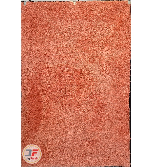 فرش ماشینی فانتزی شگی فلوکاتی زمینه نارنجی کد 11
