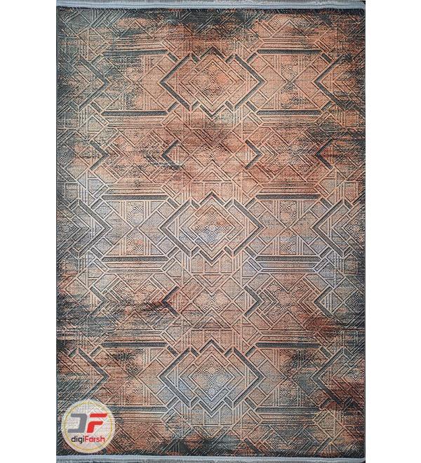 روی فرش ماشینی مدرن و فانتزی طرح وینتیج گل برجسته کد 123
