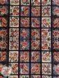 ترنج وسط فرش ماشینی طرح قشقایی زمینه سرمه ای کد 109