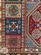 فرش طرح دستباف ماشینی سنتی زمینه کرم کد 107