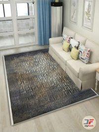 نمای دکور فرش کهنه نمای مدرن گل برجسته کد 80290