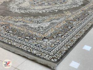 گوشه فرش مدرن پتینه گل برجسته کد 80270