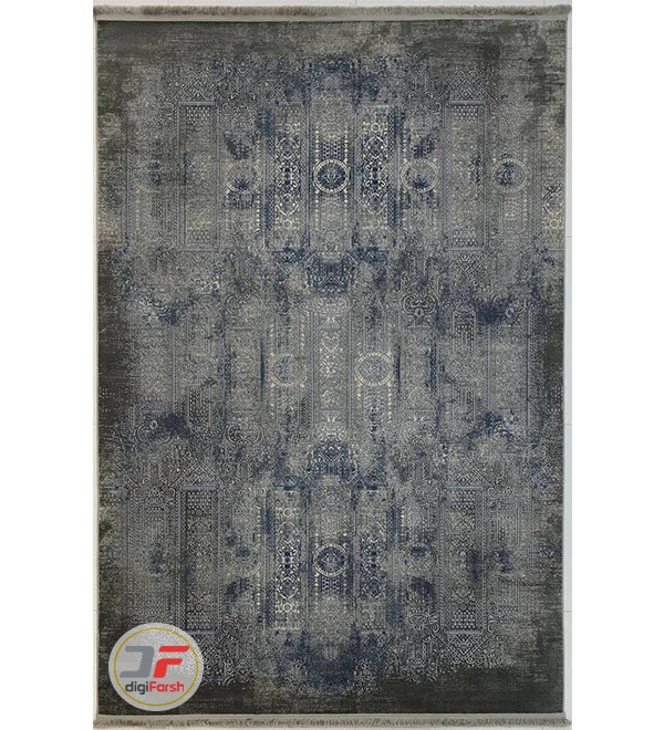 روی فرش وینتیج ماشینی گل برجسته کد 8026