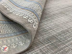 نمای تا شده فرش کهنه نمای گل برجسته مدرن کد 80295