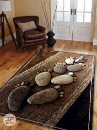 دکور فرش ماشینی سه بعدی طرح اتاق خواب کد 1353
