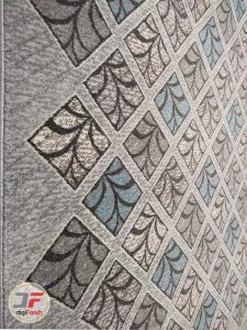 حاشیه فرش ماشینی گبه فانتزی اتاق خواب زمینه نقره ای کد 500
