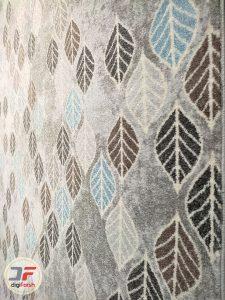 حاشیه فرش مدرن گبه ماشینی ارزان با زمینه خاکستری کد 530