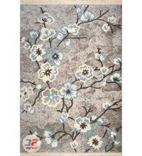 روی فرش ماشینی طرح گبه مدرن با زمینه خاکستری کد 501