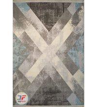 تمام فرش ماشینی مدرن ارزان طرح گبه زمینه خاکستری کد 516