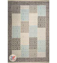 فرش ماشینی مدرن طرح گبه زمینه طوسی بژ کد 521