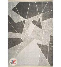 روی فرش ماشینی ارزان گبه زمینه مشکی خاکستری کد 2015