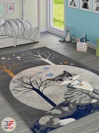 فرش فانزی ماشینی طرح کودک
