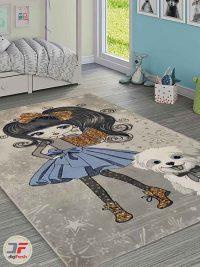 فرش ماشینی گبه طرح کودک
