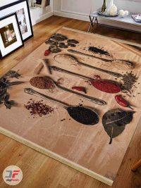 فرش ماشینی طرح آشپزخانه سه بعدی