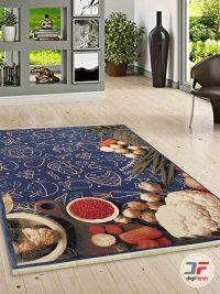 فرش مدرن آشپزخانه آبی