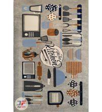 فرش ماشینی گبه طرح آشپزخانه