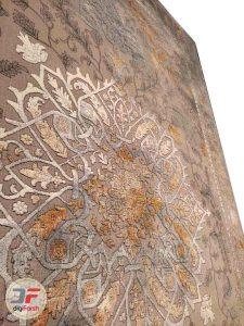 فرش گل برجسته وینتیج